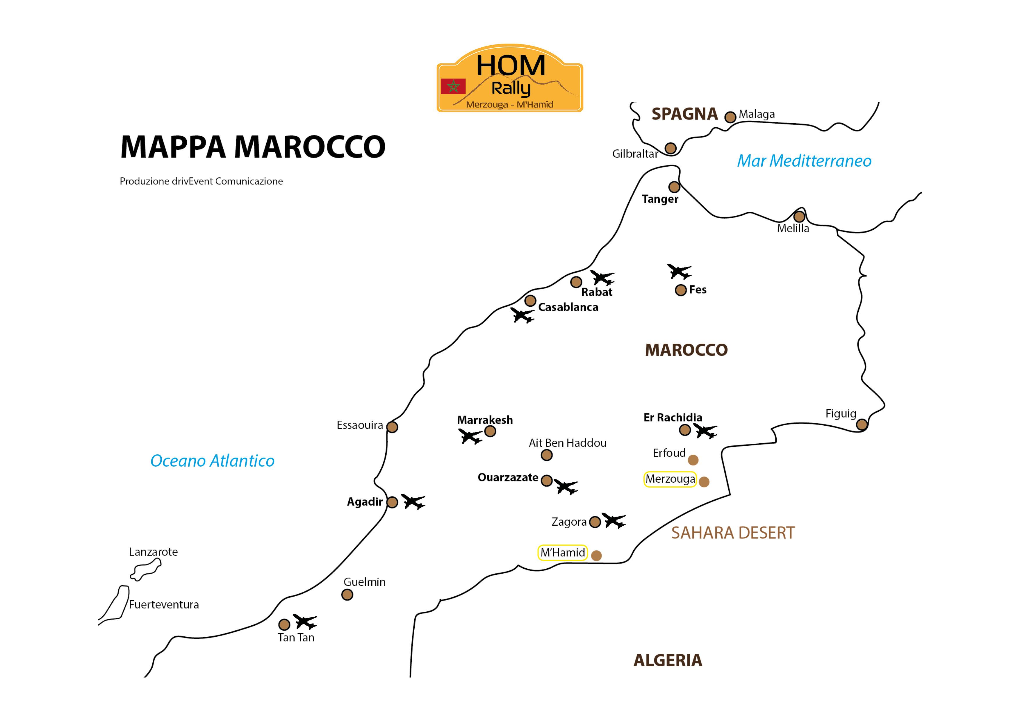 Mappa HoM Rally 2019